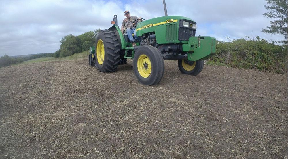 Mark Drury on tractor