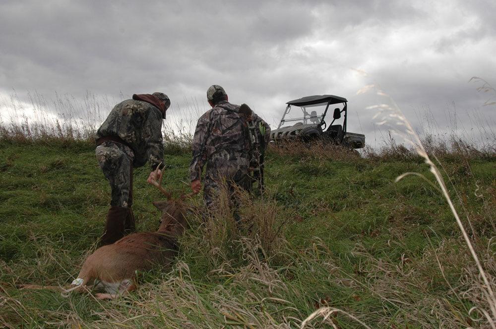 dragging a deer