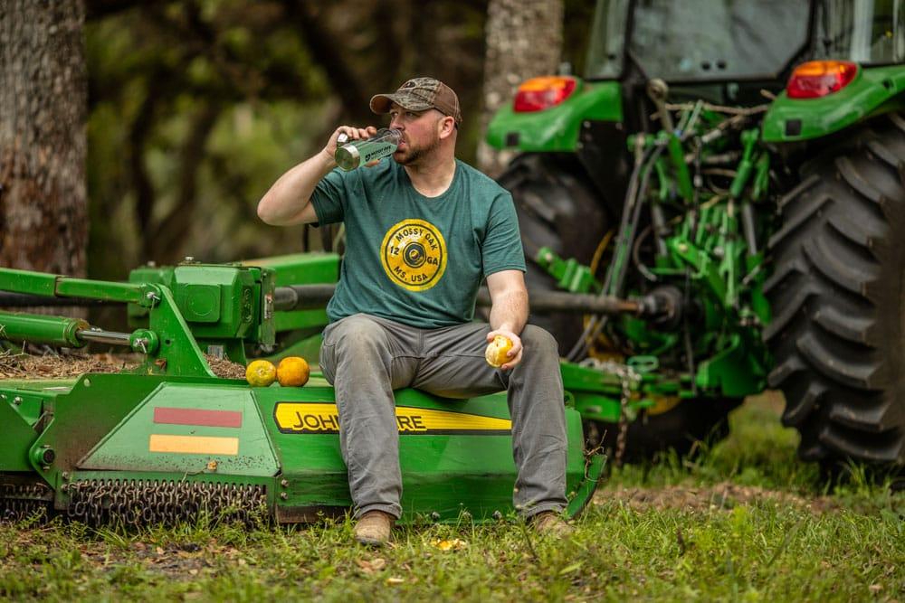 farmer resting